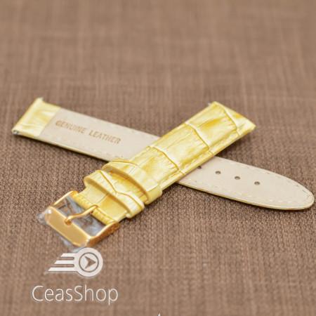 Curea piele captusita bej 14mm - 19632