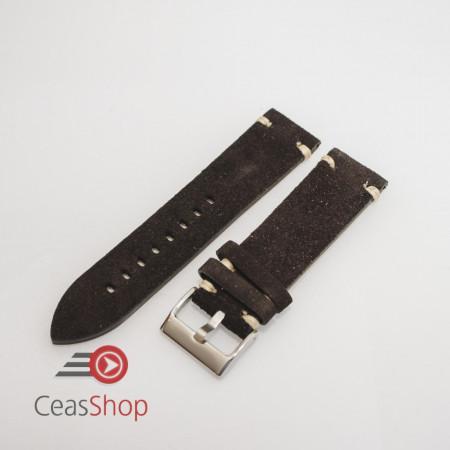 Curea piele neagra, nubuk vintage 20mm - 4170120