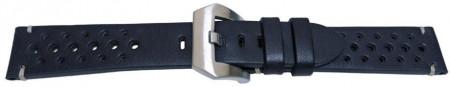 Curea piele perforata albastră navy GP Racing 24mm - 57085