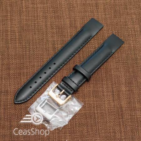 Curea piele vitel neagră, open end, 16mm - 36011