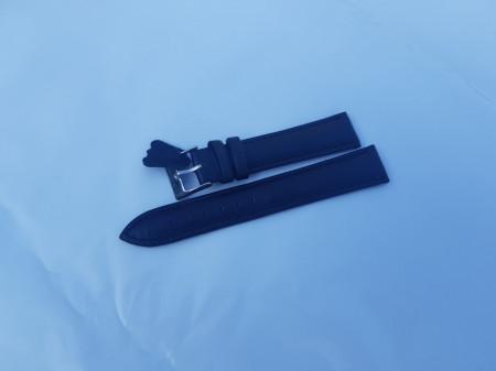 Curea piele vitel neagră semilucioasă 12mm - 7020112