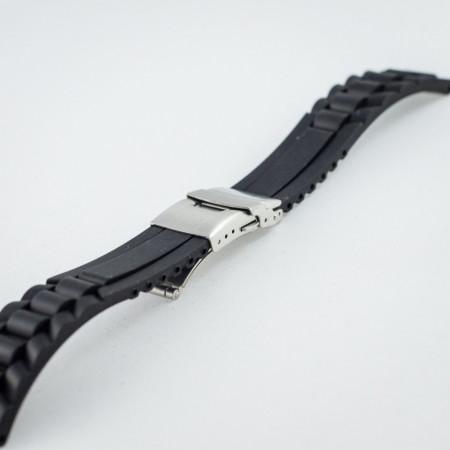 Curea silicon neagra 20mm - 20486