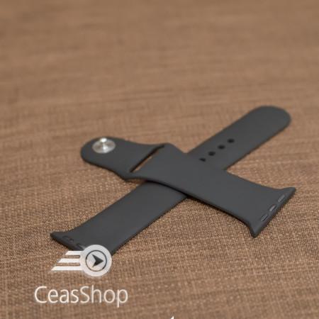 Curea silicon neagră Apple Watch - 42mm