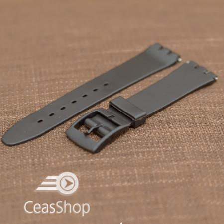 Curea tip Swatch 17 mm neagra