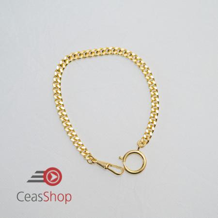 Lanț plat, auriu, pentru ceas buzunar 6,5 mm - 3010.2765