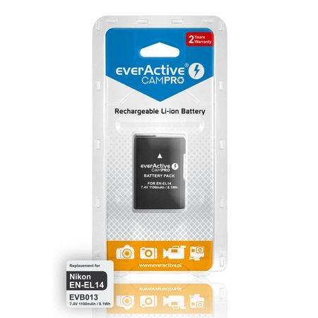 Acumulator Premium EverActive CamPro - EN-EL14 -1100mAh