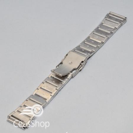 Bratara metalica argintie  24mm- 38971