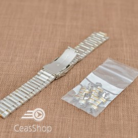 Bratara metalica bicolora reglabila 18-22mm - 40883