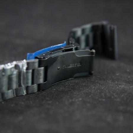 Bratara neagra 22mm capat drept - 11102