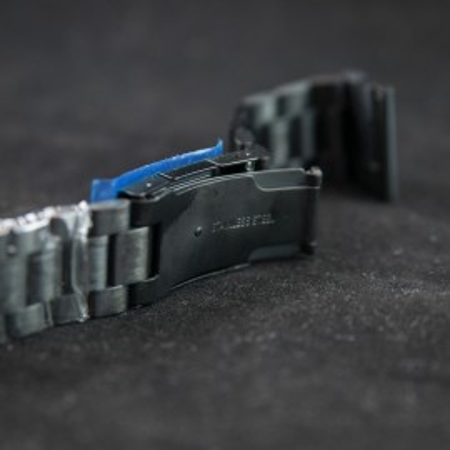 Bratara neagra 24mm capat drept - 11103