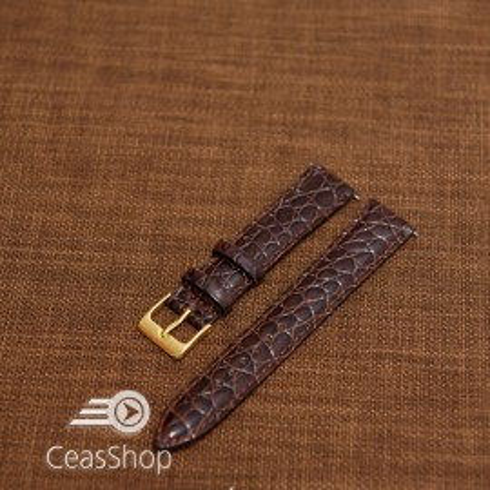 Curea model crocodil captusita maro finisaj lucios 12mm - 46355