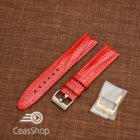 Curea model soparla captusita pe jumătate roșie  18mm - 45814