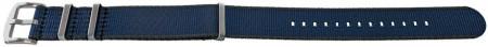 Curea NATO albastră inchis cu margine gri 20mm - 54076