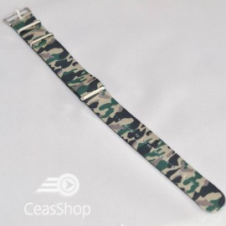 Curea NATO camuflaj verde 22mm - 36804