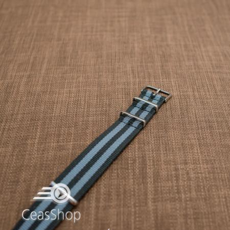 Curea NATO negru cu gri 20mm - 36520