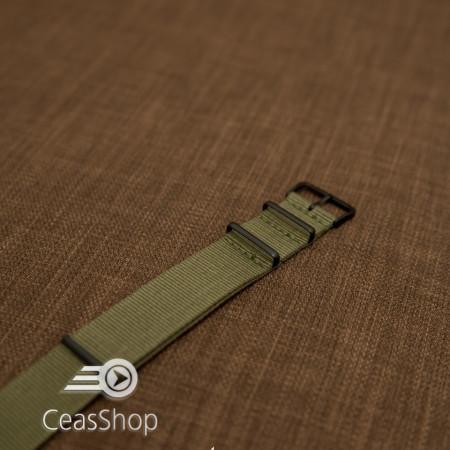 Curea NATO verde olive 24mm catarame negre - 36974