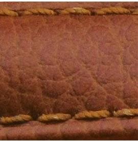 Curea piele buffalo captusita pe jumatate maro deschis 18 mm - 34862