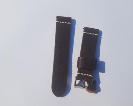 Curea piele maron vintage QR 24mm - 4060224