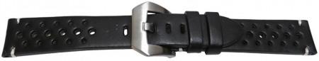 Curea piele perforata neagră GP Racing 24mm - 56976