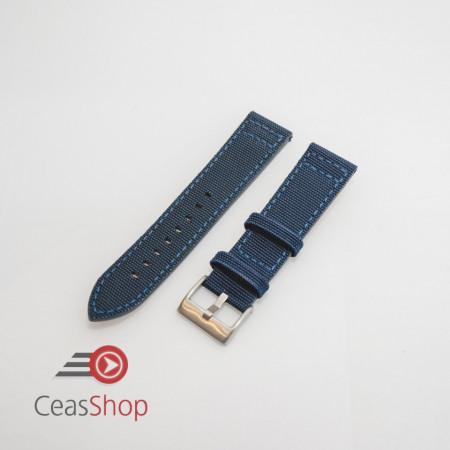 Curea piele tip Kevlar albastra 18mm - 4160518