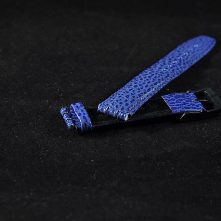 Curea piele tip Swatch 17 mm albastra - 31010