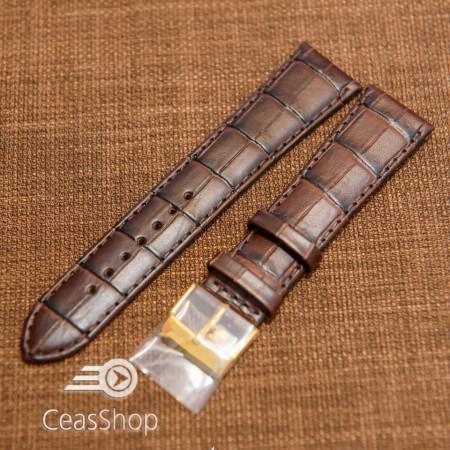 Curea piele vitel maro, handmade, căptusită 21mm - 43619