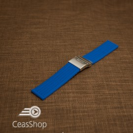 Curea silicon albatru electric 24mm - 33571