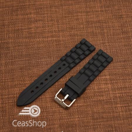 Curea silicon neagră 20mm - 45880