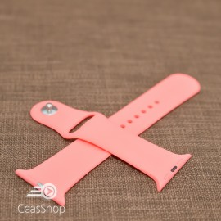 Curea silicon rosu piersică Apple Watch - 42mm