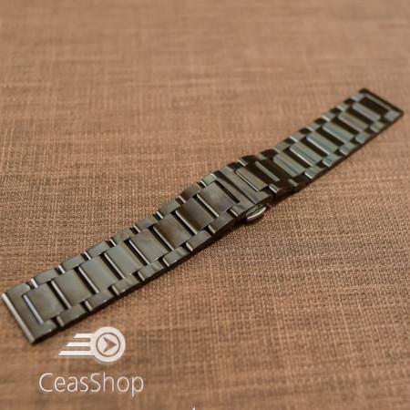 Bratara metalica neagra deployant 24mm- 50555