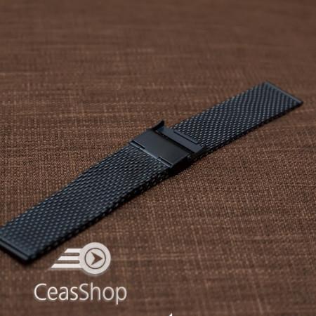Bratara milaneza neagra 24mm - 41101