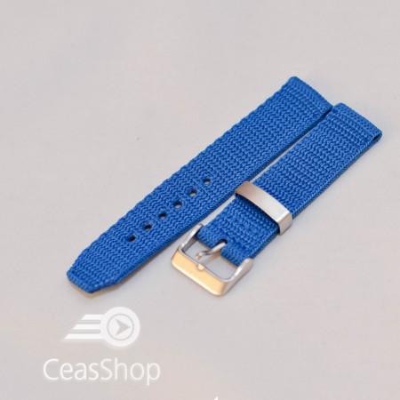 Curea din tesatura de nylon albastra 18mm - 34088