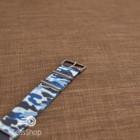 Curea NATO camuflaj albastru marin 24mm - 38015