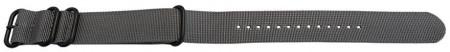 Curea NATO gri 18mm cu 4 catarame zulu negre -49865