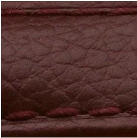 Curea piele buffalo captusita pe jumatate maro burgundy 18 mm - 34868