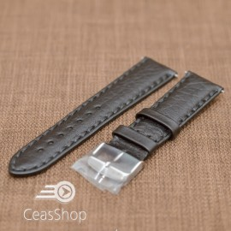 Curea piele Napoli captusita neagra  20mm - 19713