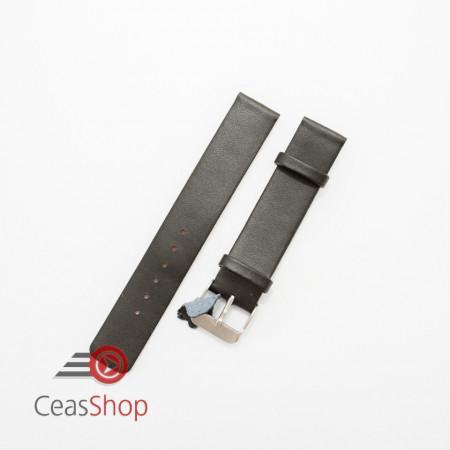 Curea piele vitel neagra plata,semi lucioasa 20mm - 3270120