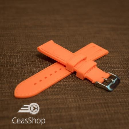 Curea silicon model crocodil portocalie 22mm - 45909