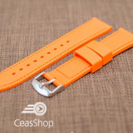 Curea silicon portocalie 20mm - 35699