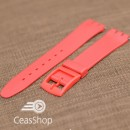 Curea tip Swatch 17 mm rosie