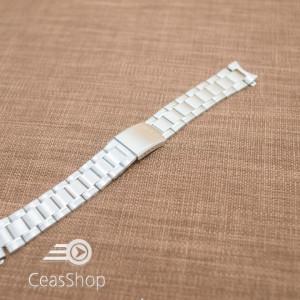 Bratara argintie Casio 20mm capat curbat