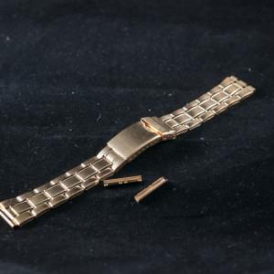 Bratara metalica reglabila aurie capete drepte 18 si 20mm - 31013