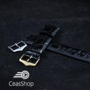 Curea crocodil neagra fara cusatura 18mm XL - 38721