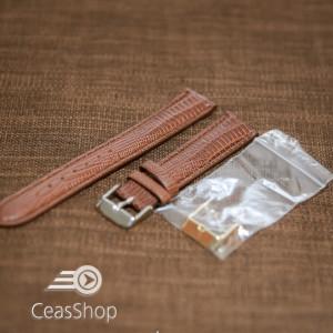 Curea maro piele vitel model soparla captusita 18mm - 35977
