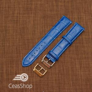 Curea model crocodil captusita albastră  22m XXL - 45750