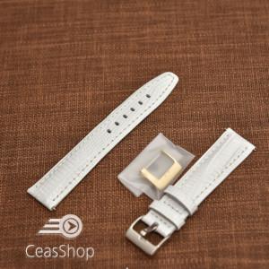Curea model soparla captusita pe jumătate albă  12mm - 45824