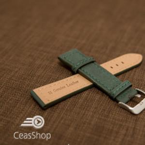 Curea piele verde 24 mm - 42223
