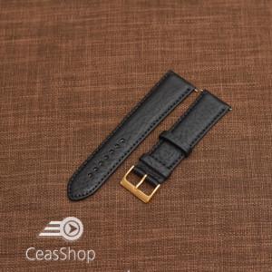 Curea piele VERONA neagra, captusita  18mm -XL- 46328