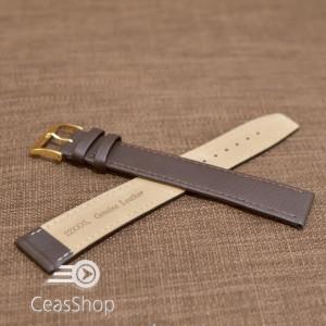 Curea piele vitel buffalo maro inchis plata XXXL 18mm - 36951