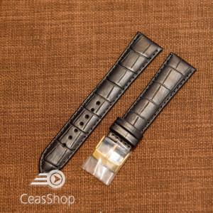 Curea piele vitel neagra model aligator L 19mm - 33786